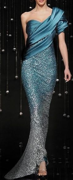 Evening gown, couture, evening dresses, formal and elegant jean fares - SO pretty! Blue