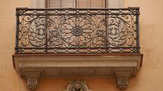 balcony Valance Curtains, Cast Iron, Balcony, Barcelona, Doors, Home Decor, Terrace, Slab Doors, Homemade Home Decor