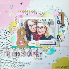 Scrapbook layout using the Crate Paper Good Vibes collection.
