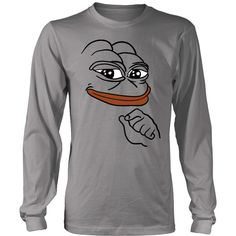 District Long Sleeve Shirt - Smug Pepe the Frog meme T-Shirt