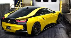 BMW i8 Rendered with Spoilers and Beefy Aftermarket Wheels