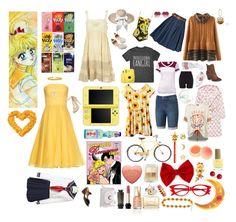 """Minako Aino - Sailor Venus"" by dbsomi ❤ liked on Polyvore featuring Hot Topic, Dolce&Gabbana, Alexander McQueen, Alison Lou, Mavala, TONYMOLY, Givenchy, adidas, Lucas Hugh and Soffe"