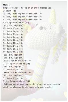 68 Amigurumi Patterns in Spanish Amigurumi Patterns, Doll Patterns, Crochet Doll Pattern, Crochet Patterns, Crochet Animals, Crochet Hats, Baby Rattle, Chrochet, Cute Dolls