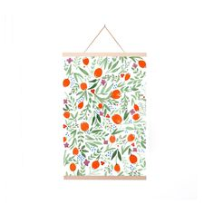 Red Poppy Floral Poster Hanger
