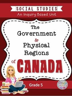 Canadian Physical Regions and Government: Ontario Social Studies Unit Social Organization, Government Of Canada, Teaching Social Studies, Fourth Grade, Geography, Lesson Plans, Physics, The Unit, Education