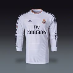 f8da2786f adidas Cristiano Ronaldo Real Madrid Long Sleeve Home Jersey 13 14