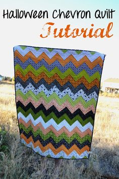 Chevron Quilt Tutorial...I could modify this for a baby quilt! | The Little Fabric Blog: Halloween Chevron Quilt Tutorial