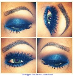 blue smokey eye ;)