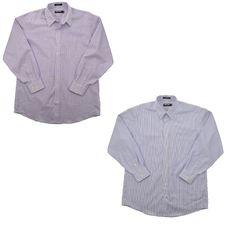 Kirkland Signature Men 80/2 Dress Shirt Non Iron Red / Blue Striped & Plaid #KirklandSignature #DressShirt