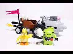 Angry Birds LEGO set featured in this video: Piggy Car Escape Pitch speedy bird Chuck against the Piggy Car. Chase the car to try and take back the eggs, but. Lego Toys, Bird Toys, Stop Motion, Angry Birds, Car, Kids, Young Children, Automobile, Children