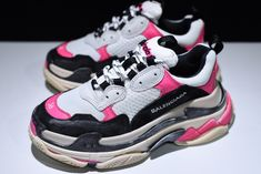 97bea5137d1 Women s Balenciaga Triple S Trainers Black Pink-White For Sale
