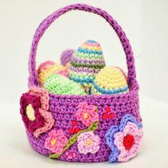 Free Spring Easter Basket Crochet Pattern