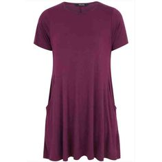 PRE-ORDER - Purple Swing Dress With Draped Pockets $61.00 http://www.curvyclothing.com.au/index.php?route=product/product&path=95_105&product_id=8015