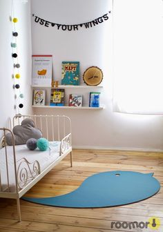 roomor! #Lumio, carpet , bird, kids's room, kid's space, romantic, letters banner,