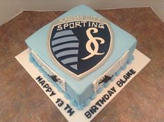 Sporting KC w/goalie - such good cakes too!Tony has a birthday coming up Sports Birthday, 9th Birthday, Birthday Celebration, Birthday Ideas, Birthday Parties, Soccer Cake, Soccer Party, Soccer Crafts, Sporting Kansas City