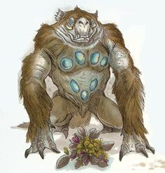 A Spotlight Sloth, an bioluminescent lifeform indigenous to the Swamp Planet Dagobah. Located & uploaded by Somarinoa.