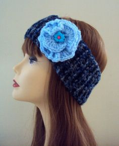 Knit Head Band With Removable Flower Earwarmer Cowl Neckwarmer Fall Winter Women Girls Hair Clothing Accessories Gift Ideas Under 20 by GrahamsBazaar, $19.99