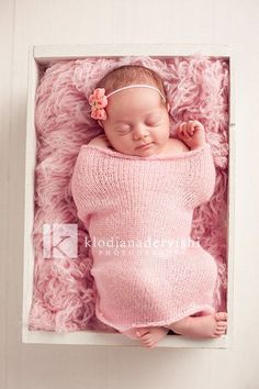 Inspiration For New Born Baby Photography : Newborn girl setup.