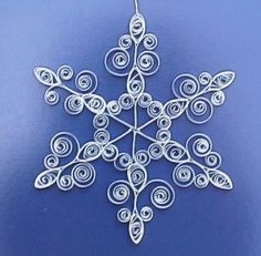 quilling, this would look great to decorate a Christmas tree