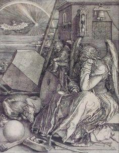 """Albrecht Dürer,   """"Melencolia I (Die Melancholie)"""", 1514, Kupferstich"""