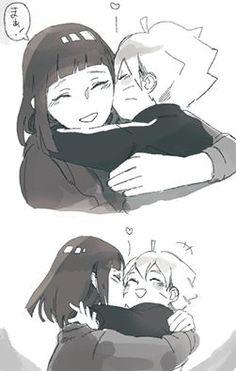 so cute mother and son Hinata and Boruto