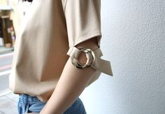 CINOH O-Ring sleeve T-shirt   LOFTMAN