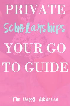 Are you interested in private scholarships to fund your education? Check out this awesome post all about private scholarships, where to find them, and how to apply for them!