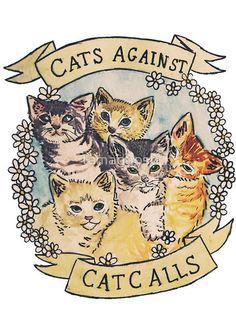 Cats Against Cat Calls Sticker