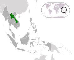 Location of Laos(green)in ASEAN(dark grey) – [Legend]