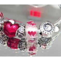 """What are your favorite charms from the Valentine's Day Collection? Share your designs with us using #pandorawestfarms. #ArtOfYou #pandorastyle #pandora…"""