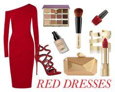 """Red Dresses"" by gemgem-45 ❤ liked on Polyvore featuring Donna Karan, Étoile Isabel Marant, Giuseppe Zanotti, Dolce&Gabbana, tarte, Bobbi Brown Cosmetics, OPI, women's clothing, women and female"