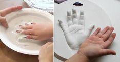 Elle trempe la main de sa fille dans une matière spéciale! Elle en fait un souvenir adorable!