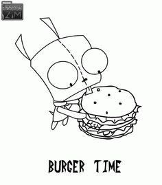 Invader Zim Gir Coloring Page | Nickelodeon Coloring Pages ...