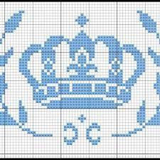 Resultado de imagem para coroa em ponto cruz