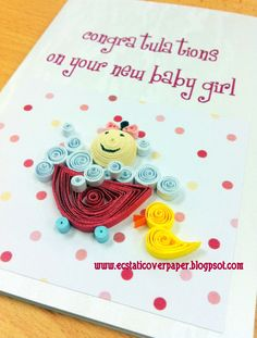 Baby Girl. -  or you could just say Congrat on your new baby