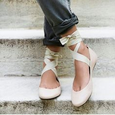 Free People Shoes - Free People Lace up ballet flats