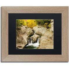 Trademark Fine Art Fall at the Falls Canvas Art by Michael Blanchette Photography Black Matte, Birch Frame, Size: 16 x 20, Assorted