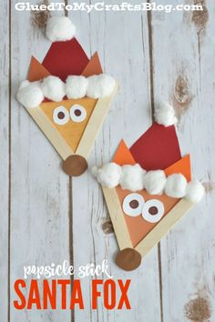 Popsicle Stick Santa Fox - Kid Craft