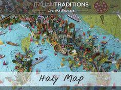 Italy Map, Illustration, Painting, Art, Craft Art, Painting Art, Kunst, Map Of Italy, Illustrations