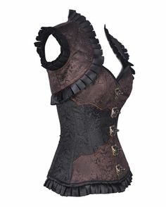 9004 Brown Steampunk Corset and Jacket  I'm digging the layers...so maybe I will add a small shrug to it as well?