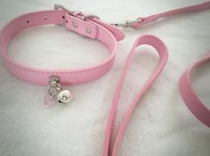 Hey, I found this really awesome Etsy listing at https://www.etsy.com/listing/244897464/pink-leash-collar-kitten-play-bell-day