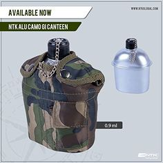 NTK Camo 1 QT Outdoor Camping Hiking Aluminum Canteen * You can find out more details at the link of the image.