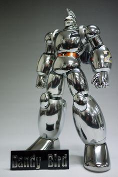 Tetsujin 28 - Scratch Build Modeled by Dandy Bird Arte Robot, I Robot, Combattler V, Vinyl Figures, Action Figures, Robot Costumes, Robots Characters, Vintage Robots, Aliens And Ufos