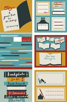 Stationary product illustrations by Debbie Powell for Galison