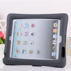 Fashion Soft Silicon Kids Baby Shock Proof Foam Stand With Audio Amplifier Case Cover For IPad mini 1/2/3 IPad 2/3/4 + Stylus