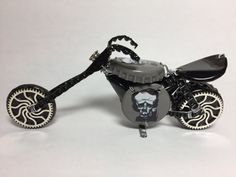 Beer Bottle Cap Motorcycle Bike  Upcycled Caps by TADWOLFCreations