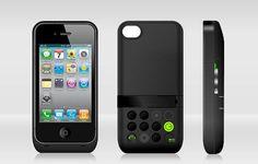 iPhone battery case w/speaker