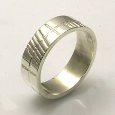 """Old Irish font Ogham """"Anam Cara"""" Soul Mate in silver wedding ring Pagan Witch, Wiccan, Irish Font, Pagan Jewelry, Silver Wedding Rings, Rings For Men, Handmade Jewelry, Engagement Rings, Jewellery"""