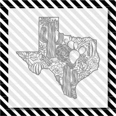 Texas cactus svg cut file - Succulent Texas Cutfile - Texas Silhouette dxf - Texas vector art - Texas cactus svg - Texas svg - svg cut file by NorthEighty on Etsy https://www.etsy.com/listing/550809587/texas-cactus-svg-cut-file-succulent