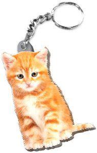 Got Yo Gifts Tigger Kitten Mirrored Acrylic Keychain: Cat Gift